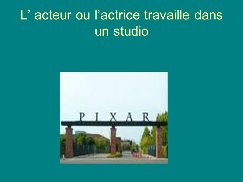 L acteur ou lactrice travaille dans un studio