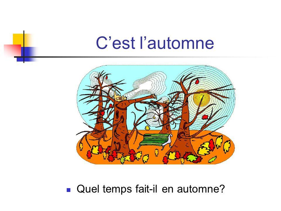 Cest lautomne Quel temps fait-il en automne?