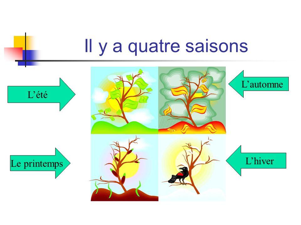Il y a quatre saisons Lété Lautomne Le printemps Lhiver