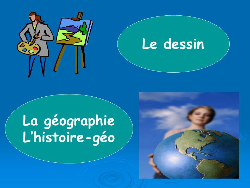 La géographie Lhistoire-géo Le dessin