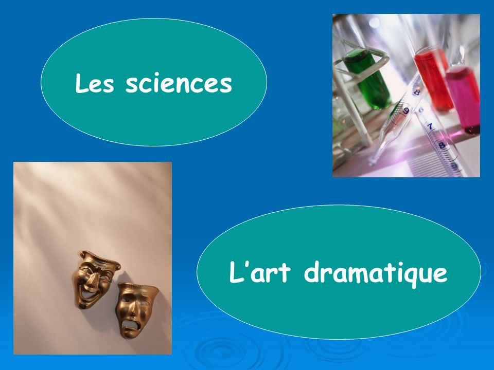 Lart dramatique Les sciences
