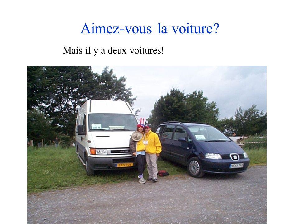 Aimez-vous la voiture? Mais il y a deux voitures!