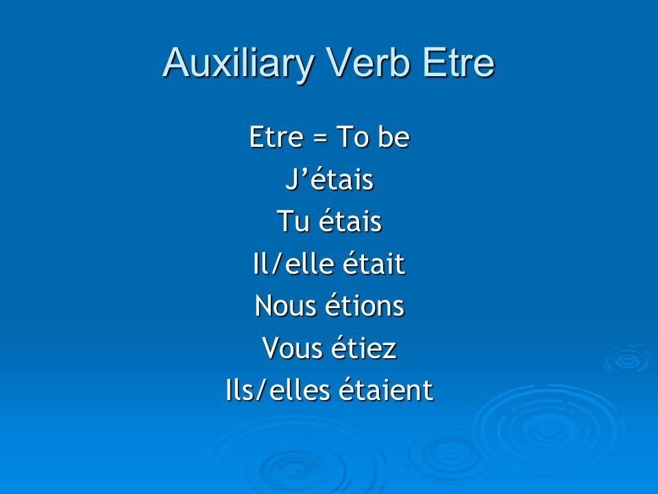 La Formation L es verbes en -er Verbes en –er: to form the past participle, drop the –er of the infinitive and add é Verbes en –er: to form the past participle, drop the –er of the infinitive and add é Example: DONNER = Example: DONNER = Past participle: ____________________ Auxiliary verb: ____________________