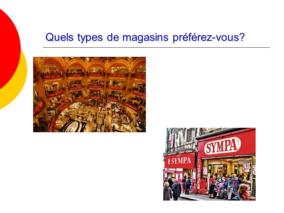 Quels types de magasins préférez-vous?