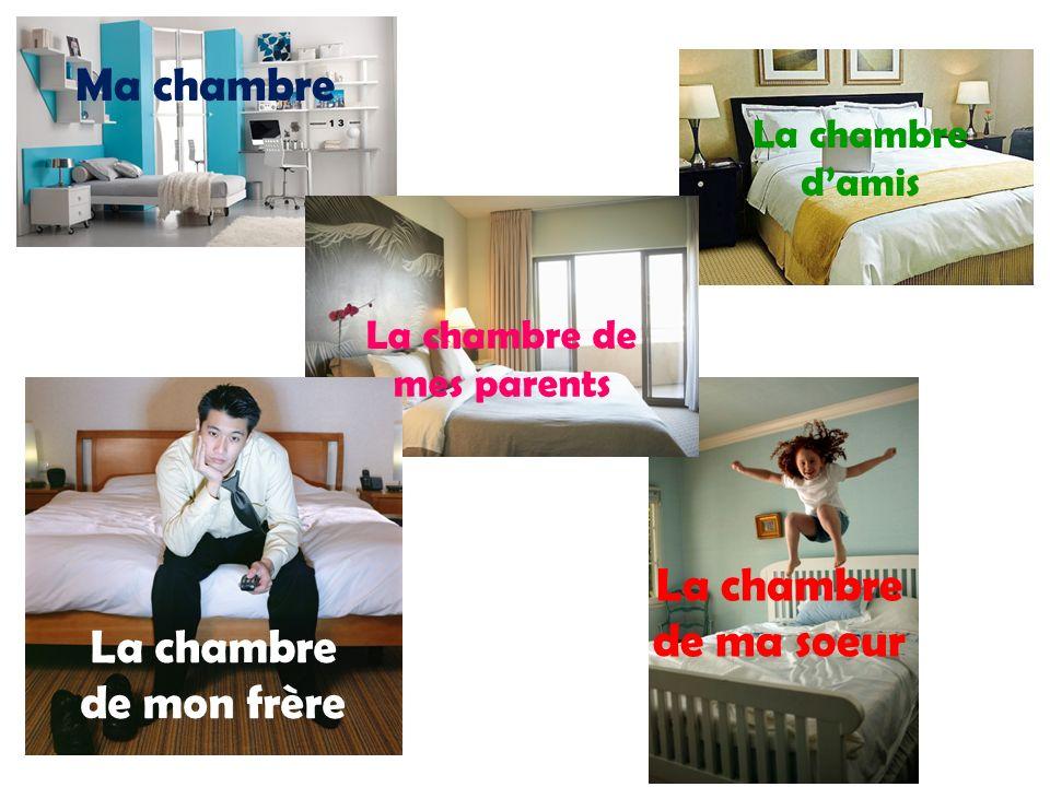 Ma chambre La chambre de mon frère La chambre de ma soeur La chambre de mes parents La chambre damis