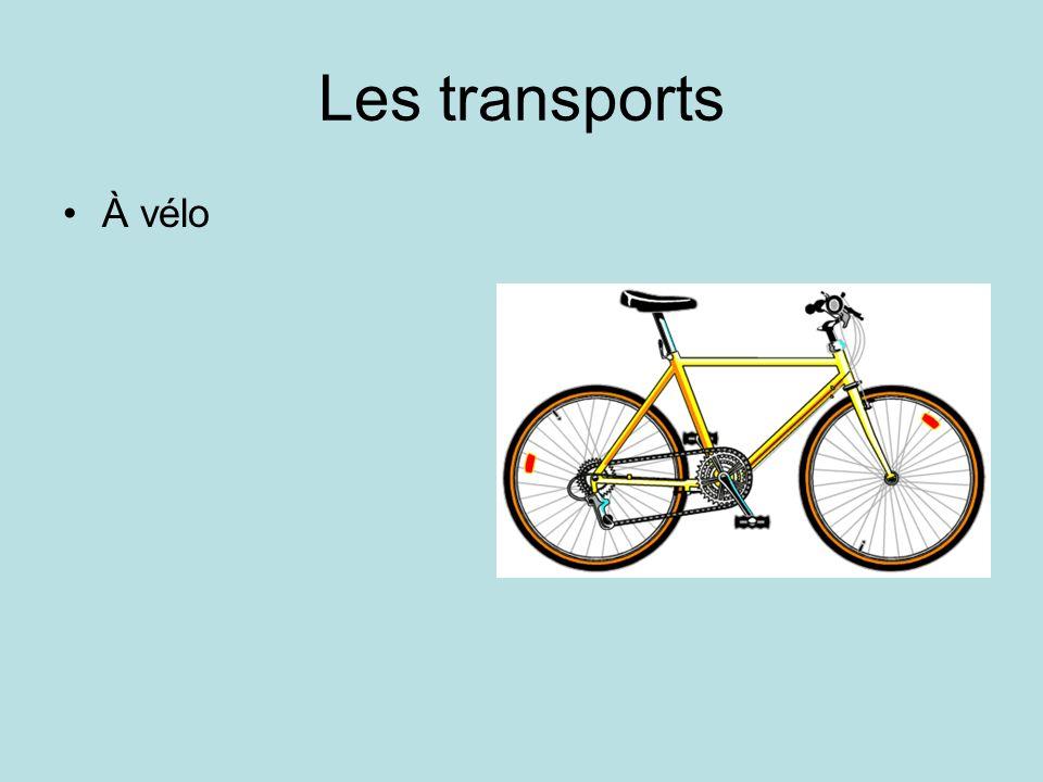 Les transports À vélo