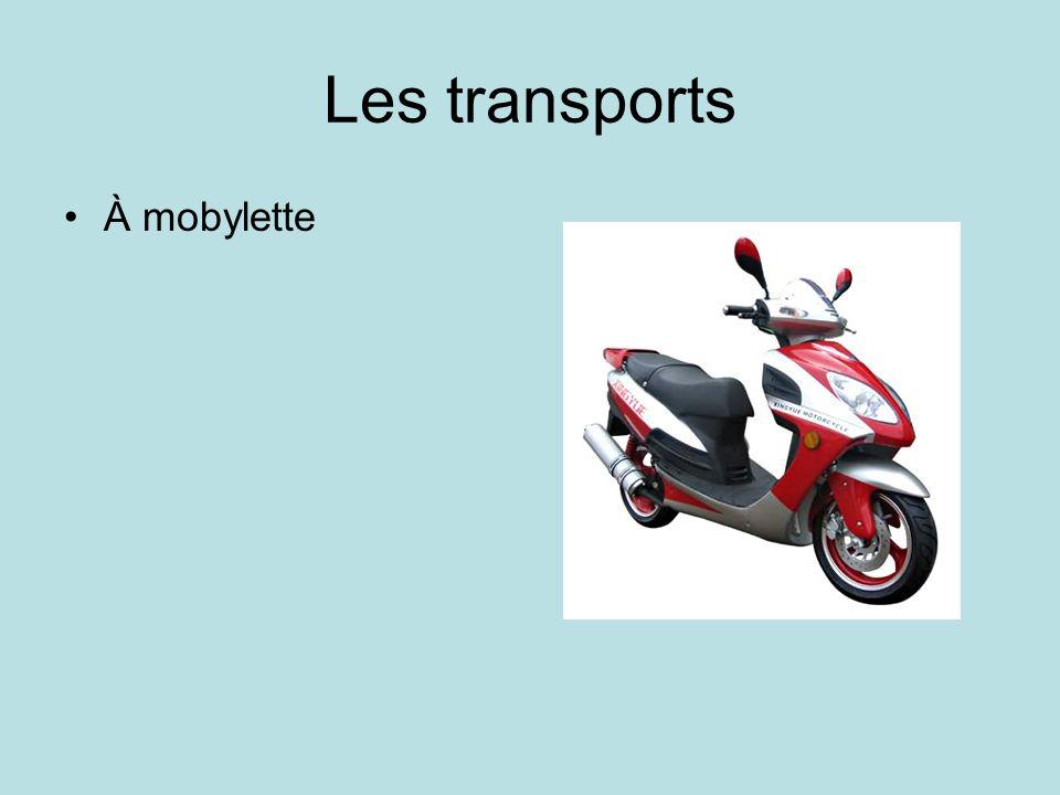 Les transports À mobylette