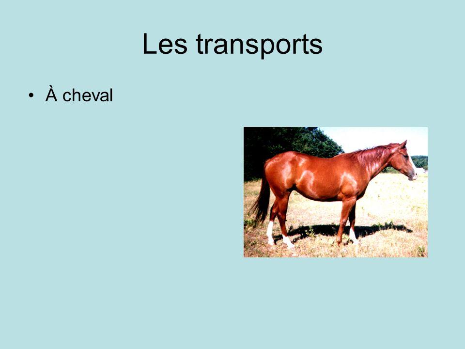Les transports À cheval