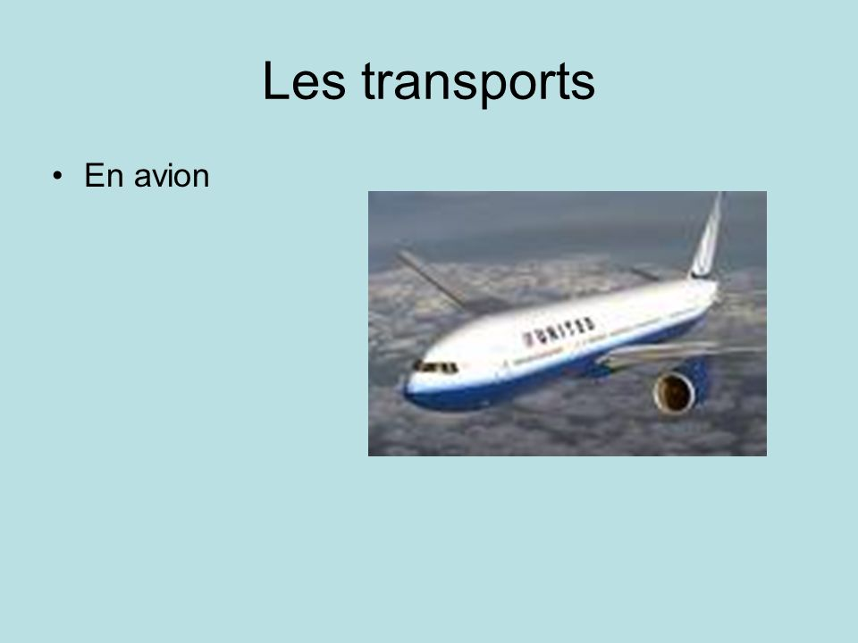 Les transports En avion