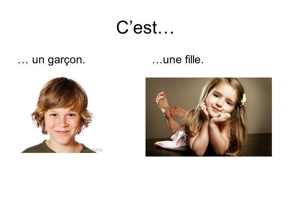 Cest… … un garçon.…une fille.
