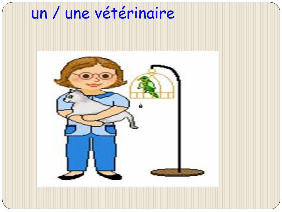 un / une vétérinaire é