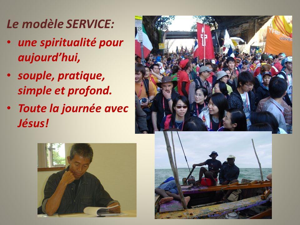Le modèle SERVICE: une spiritualité pour aujourdhui, souple, pratique, simple et profond. Toute la journée avec Jésus!