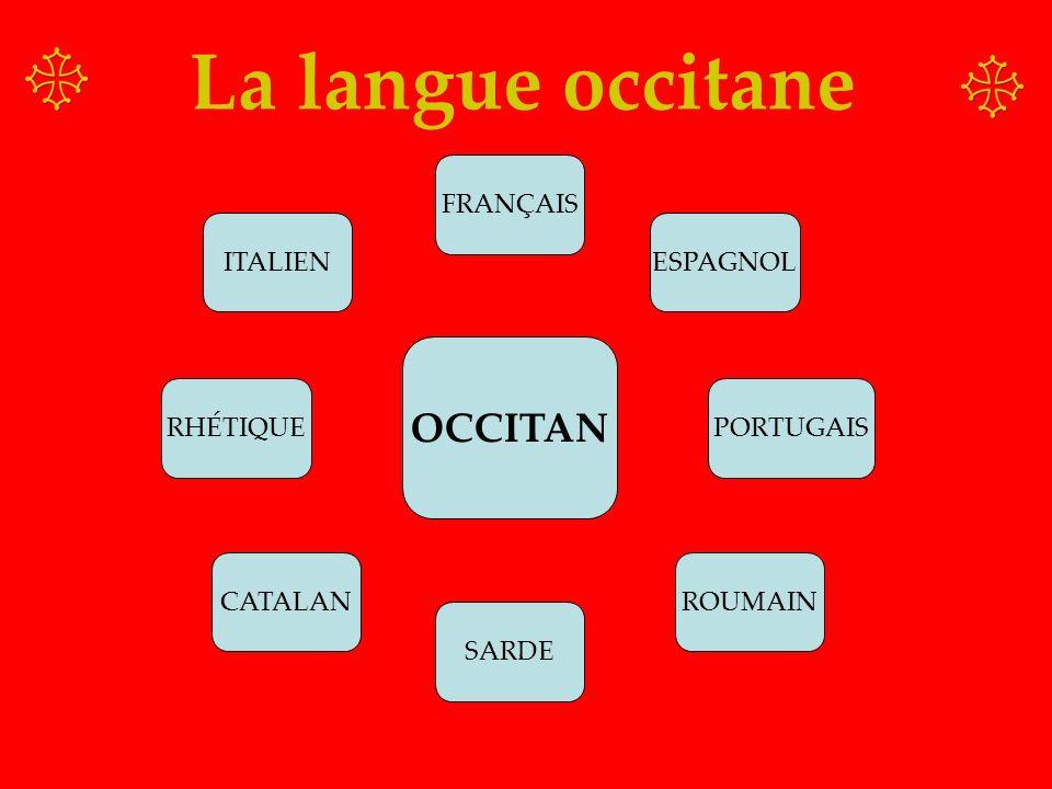 OCCITAN FRANÇAIS ESPAGNOL PORTUGAIS ROUMAIN ITALIEN RHÉTIQUE CATALAN SARDE