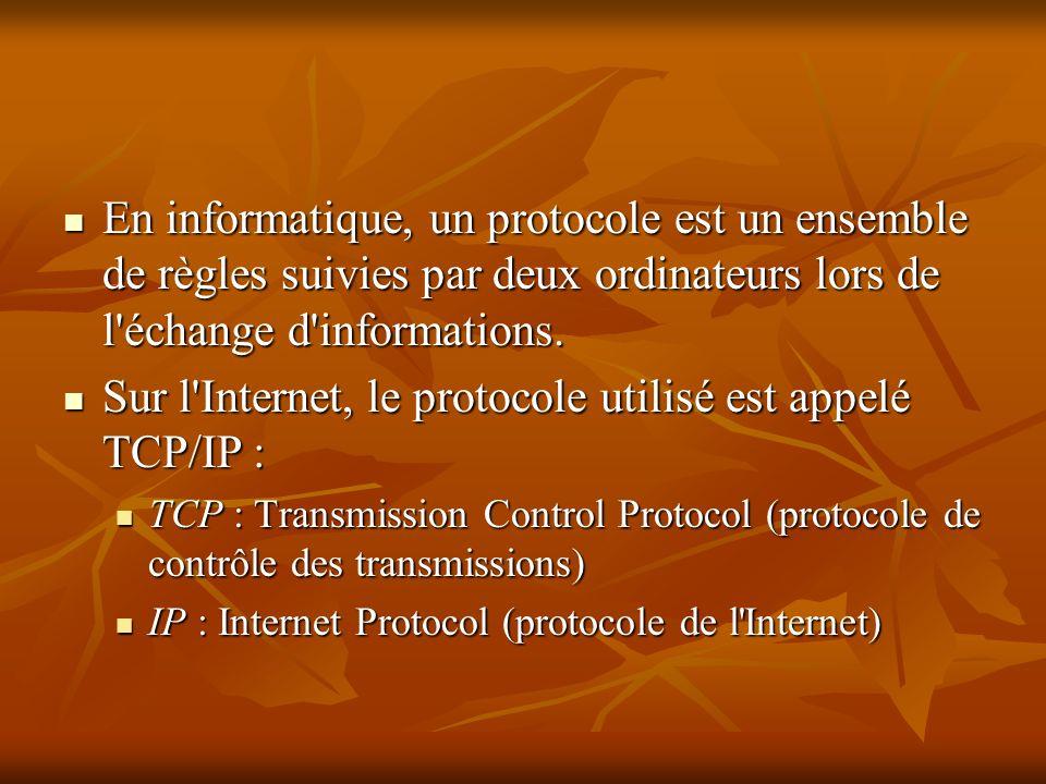 En informatique, un protocole est un ensemble de règles suivies par deux ordinateurs lors de l'échange d'informations. En informatique, un protocole e