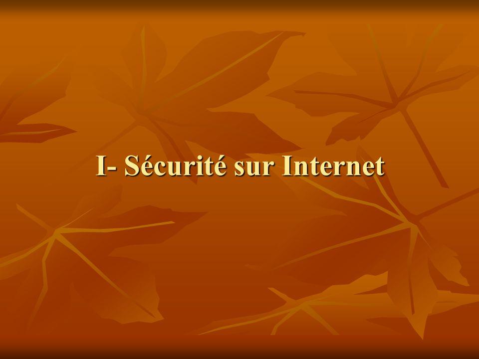 I- Sécurité sur Internet