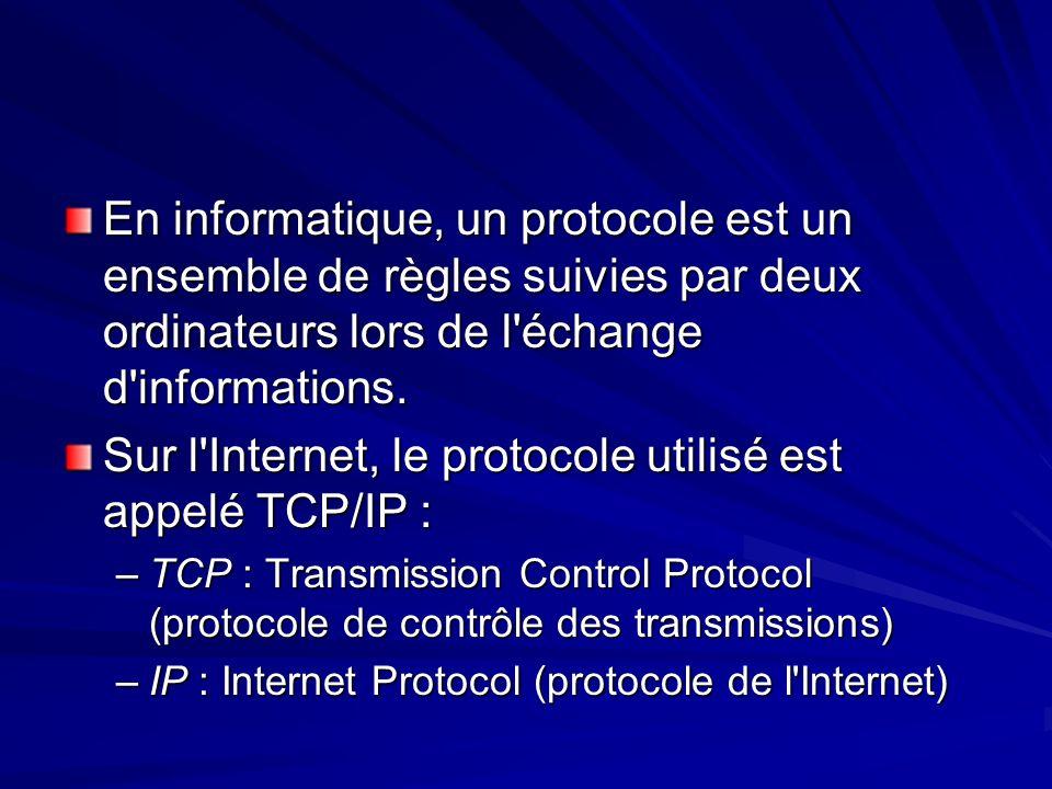 En informatique, un protocole est un ensemble de règles suivies par deux ordinateurs lors de l'échange d'informations. Sur l'Internet, le protocole ut