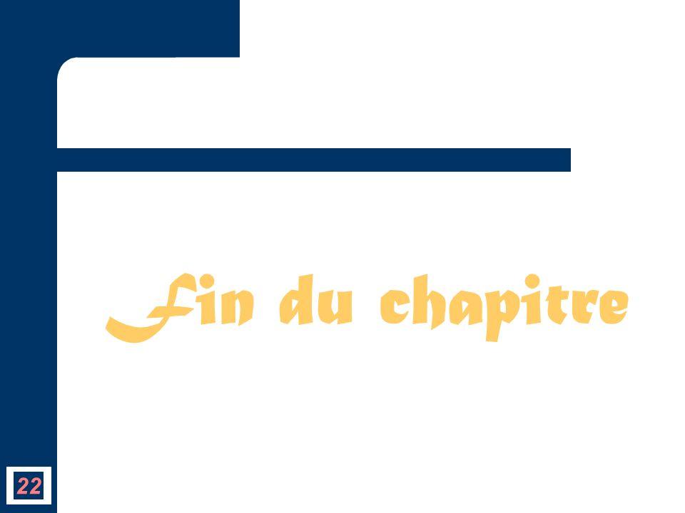 Fin du chapitre 22