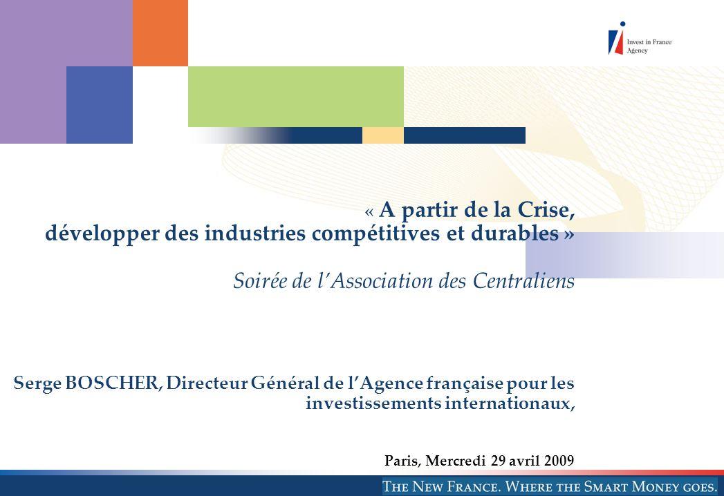 © AFII 2009 77 Bd St Jacques 75014 Paris 2 I.Les critères de lattractivité de la France II.