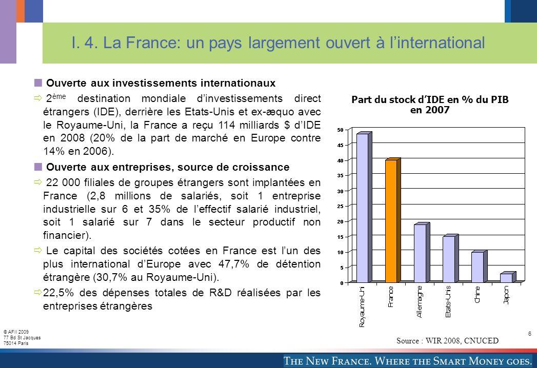 © AFII 2009 77 Bd St Jacques 75014 Paris 7 I.5.