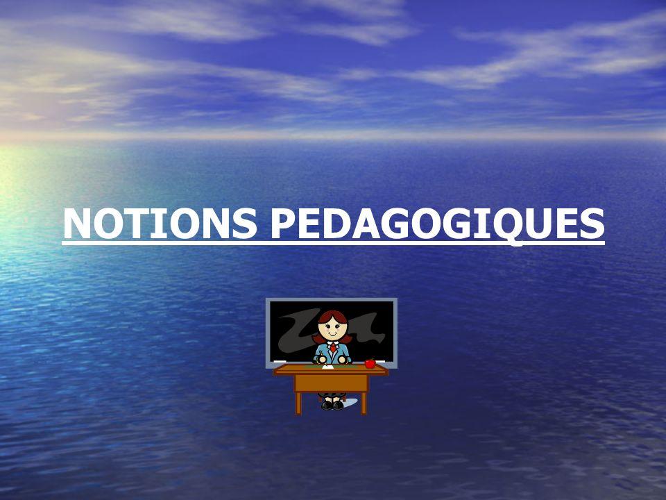 I) INTRODUCTION : LA PEDAGOGIE: LA PEDAGOGIE: C est l art d enseigner C est l art d enseigner Cela s apprend : règles, démarches … Cela s apprend : règles, démarches …