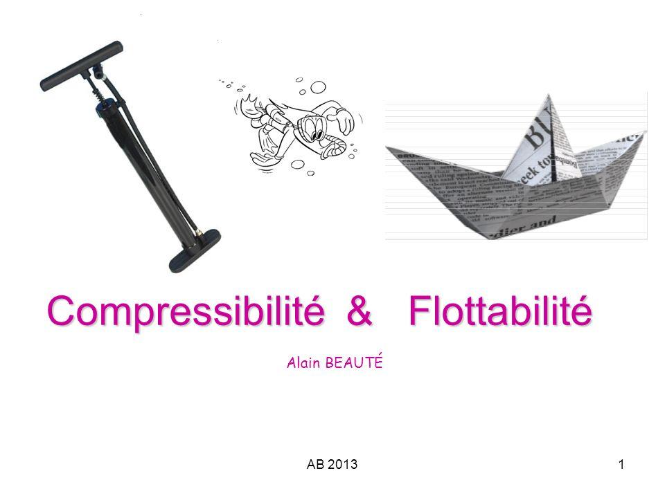 AB 20131 Compressibilité & Flottabilité Compressibilité & Flottabilité Alain BEAUTÉ