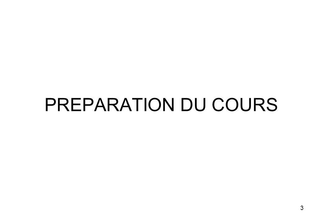 3 PREPARATION DU COURS