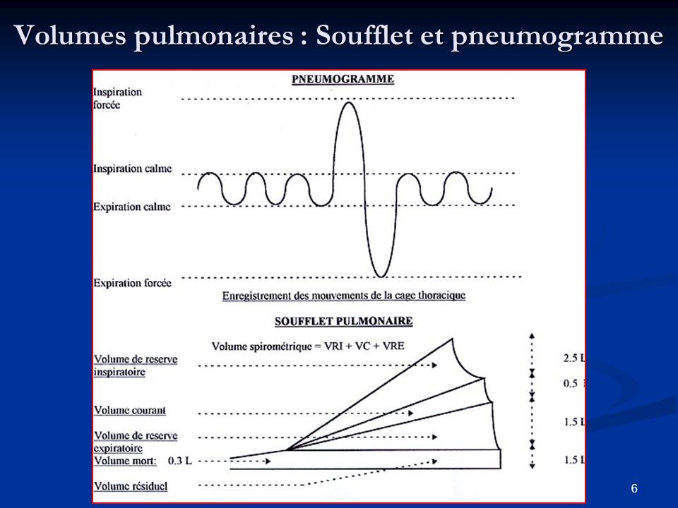 6 Volumes pulmonaires : Soufflet et pneumogramme