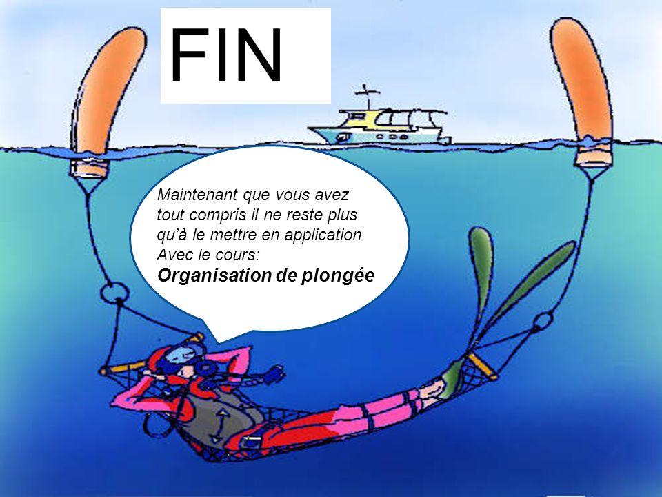 Maintenant que vous avez tout compris il ne reste plus quà le mettre en application Avec le cours: Organisation de plongée FIN