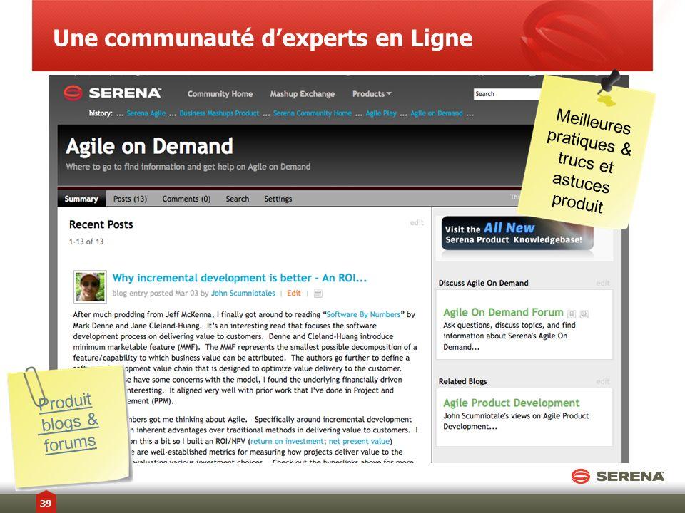 Une communauté dexperts en Ligne Produit blogs & forums Meilleures pratiques & trucs et astuces produit 39