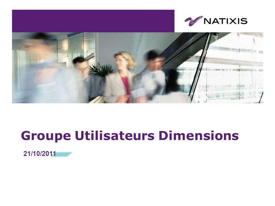 Groupe Utilisateurs Dimensions 21/10/2011