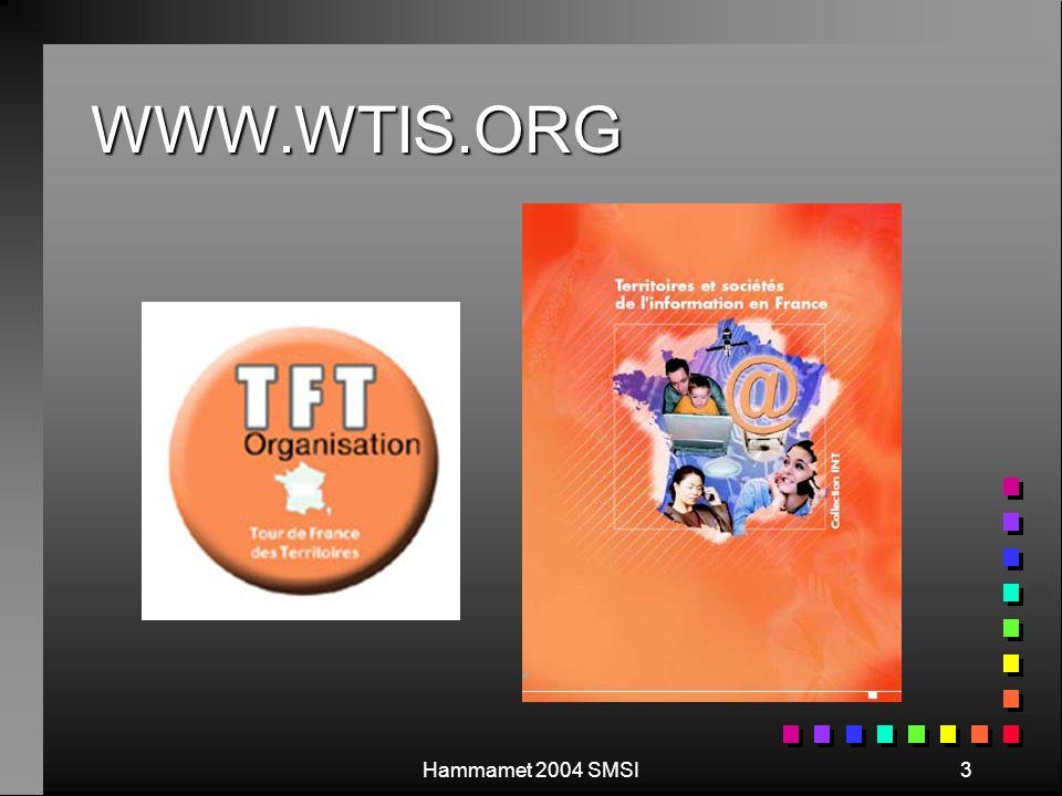 Hammamet 2004 SMSI3 WWW.WTIS.ORG