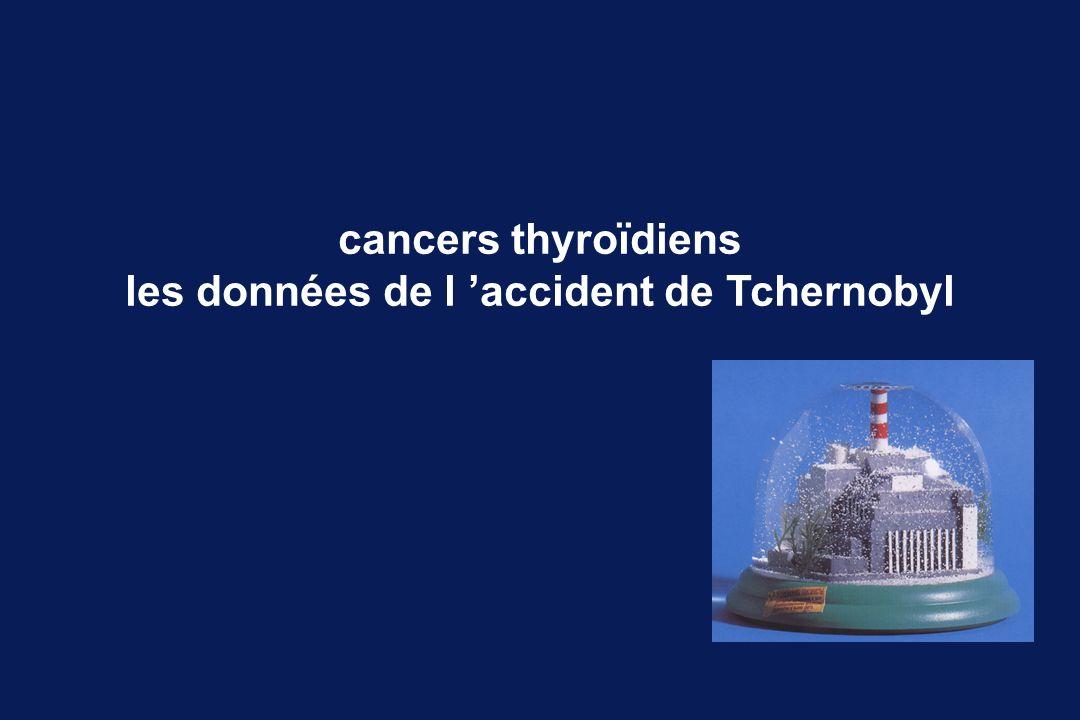 cancers thyroïdiens les données de l accident de Tchernobyl