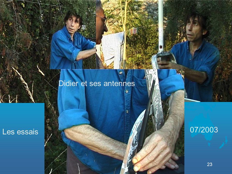 23 Les essais 07/2003 Didier et ses antennes
