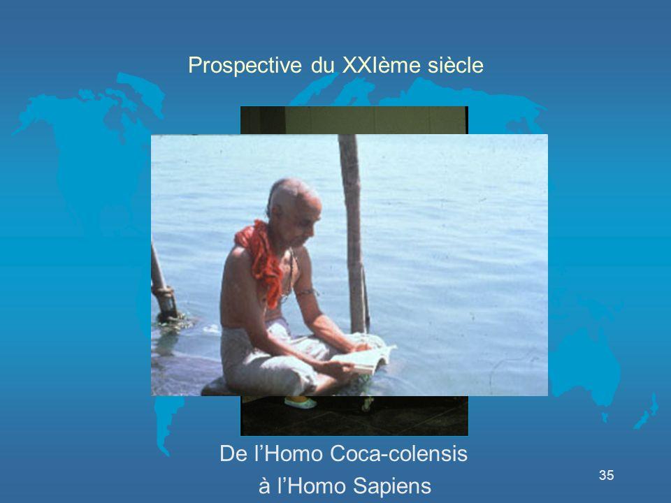 35 à lHomo Sapiens Prospective du XXIème siècle De lHomo Coca-colensis