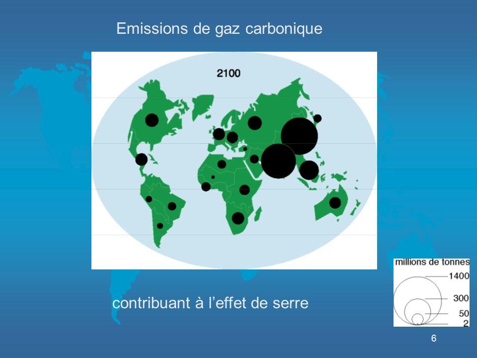 6 Emissions de gaz carbonique contribuant à leffet de serre