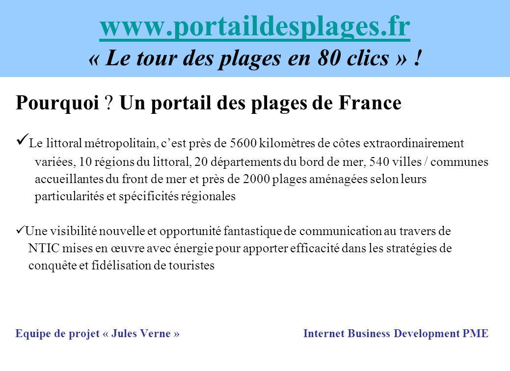 www.portaildesplages.fr www.portaildesplages.fr « Le tour des plages en 80 clics » ! Pourquoi ? Un portail des plages de France Le littoral métropolit