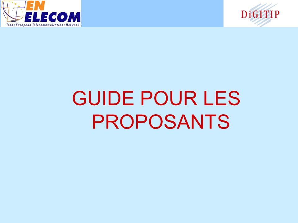 GUIDE POUR LES PROPOSANTS