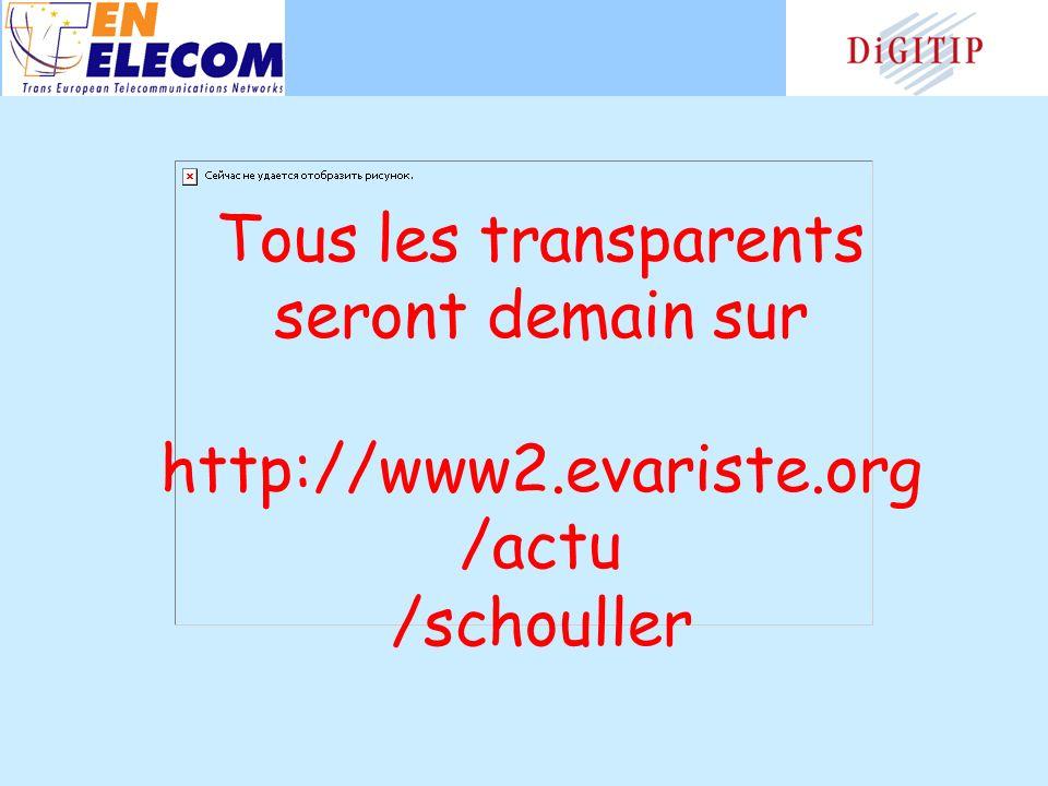 Tous les transparents seront demain sur http://www2.evariste.org /actu /schouller