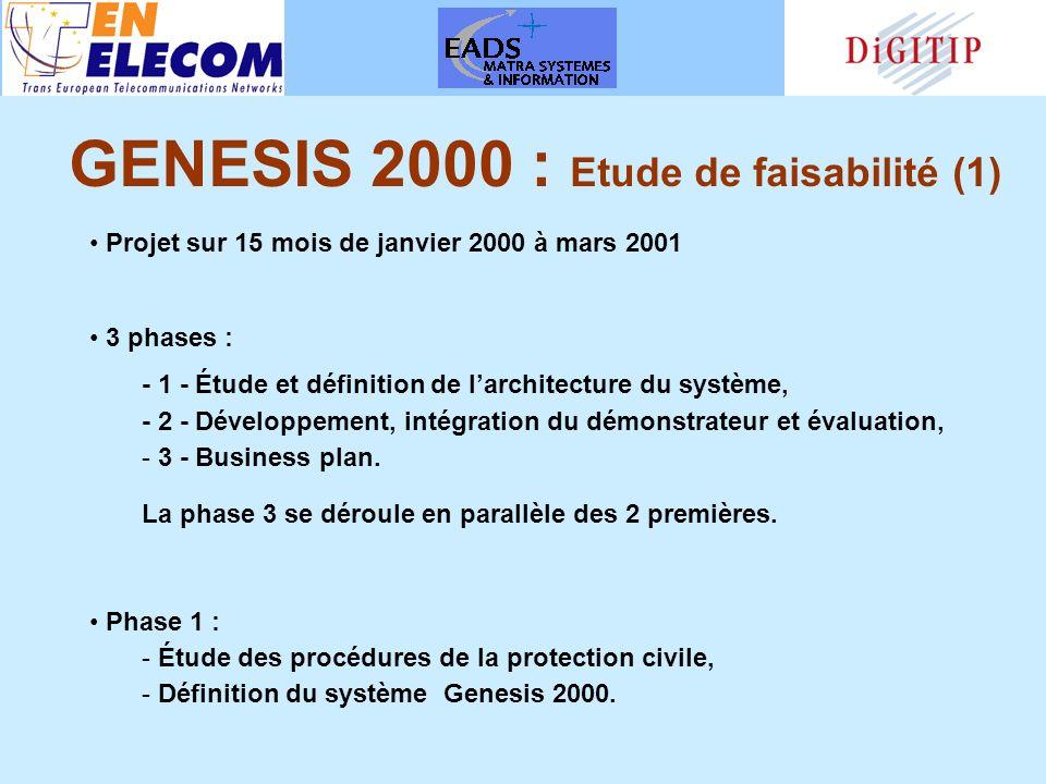 Projet sur 15 mois de janvier 2000 à mars 2001 3 phases : - 1 - Étude et définition de larchitecture du système, - 2 - Développement, intégration du démonstrateur et évaluation, - 3 - Business plan.
