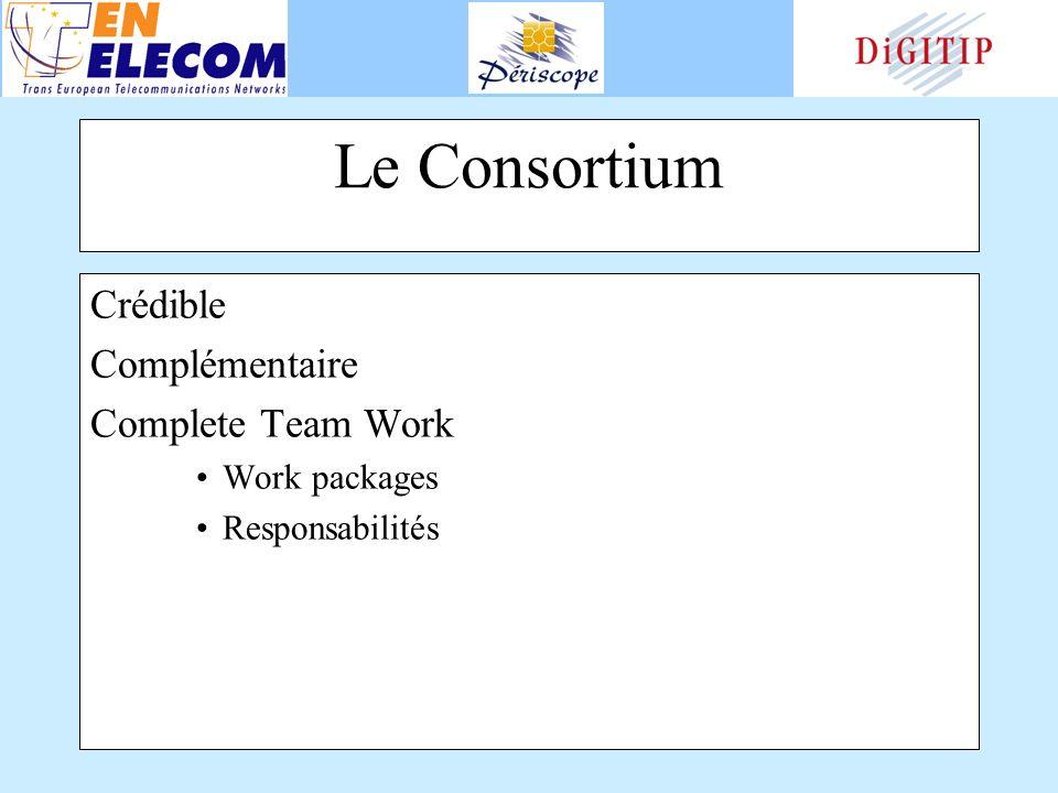 Le Consortium Crédible Complémentaire Complete Team Work Work packages Responsabilités