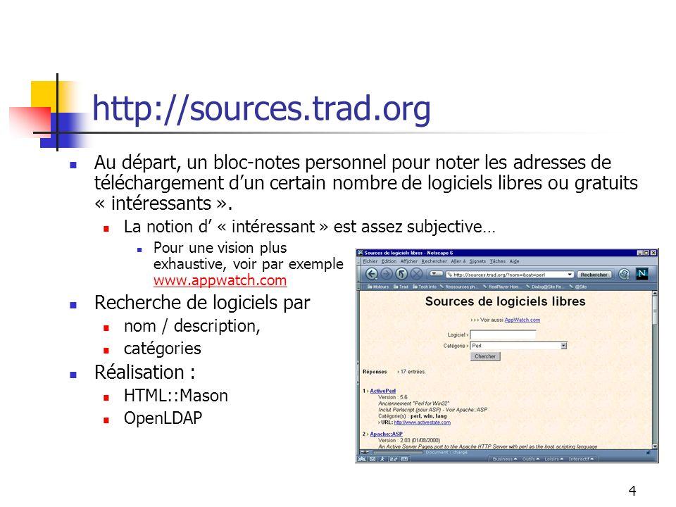 55 LWP::Simple Exemple : récupération dun document use LWP::Simple; get (http://www.admi.net);