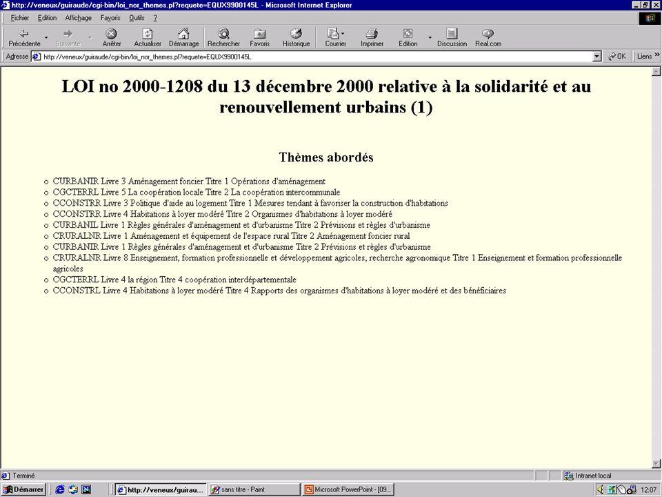 09/04/2001Travaux de recherche Guiraude LAME