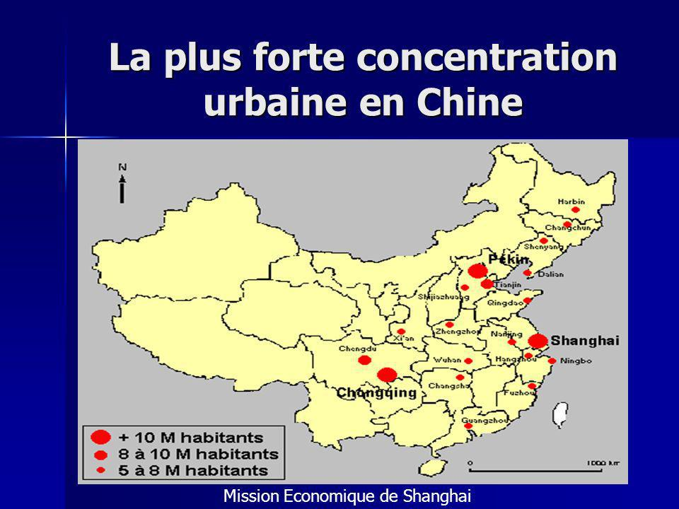 La plus forte concentration urbaine en Chine Mission Economique de Shanghai
