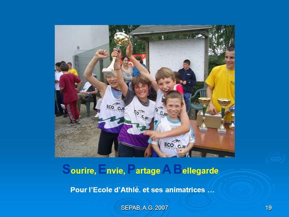SEPAB, A.G. 200718 LÉcole dAthlé.