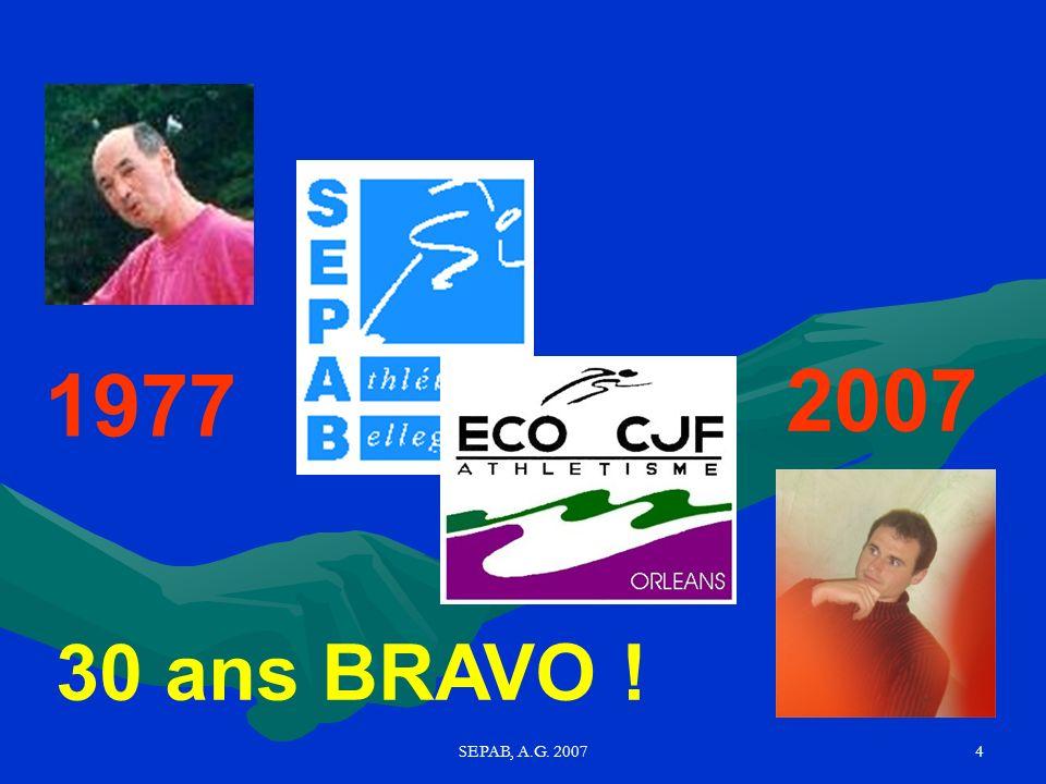 SEPAB, A.G. 200714 Bilan Financier (par le trésorier Pascal M)