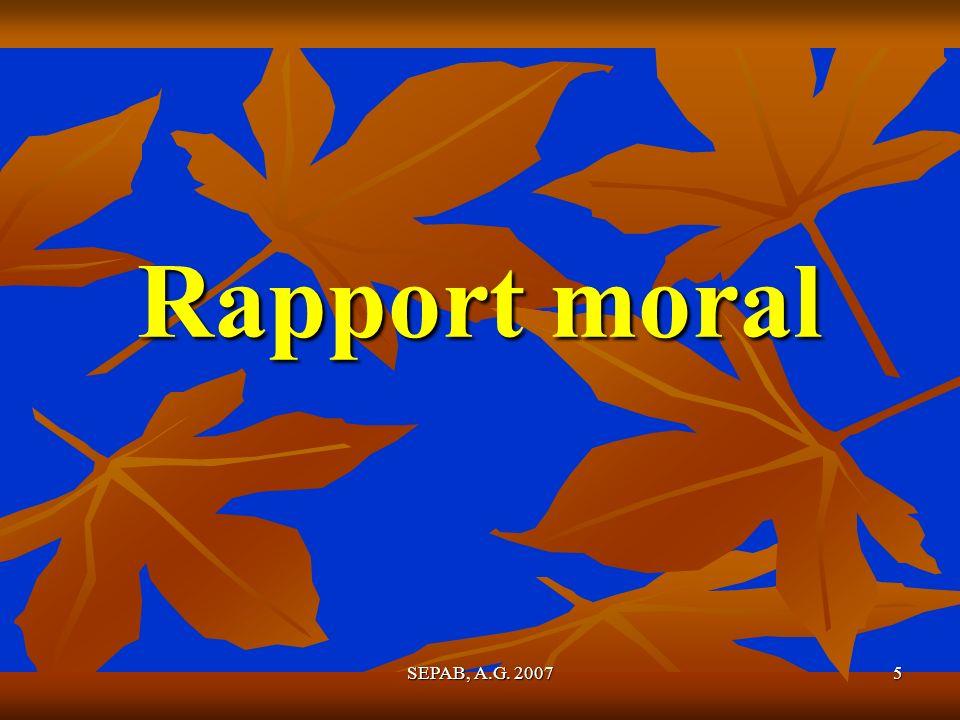 5 Rapport moral