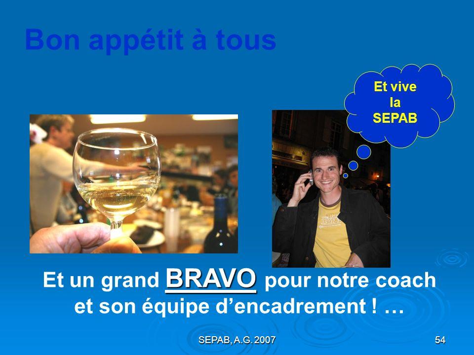 SEPAB, A.G. 200753 Bonne SAISON 2007 - 2008