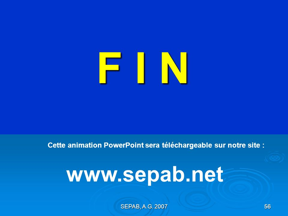 SEPAB, A.G. 200755 Concours PHOTOS 2007 Pensez à VOTER … dans quelques instants sur cet écran