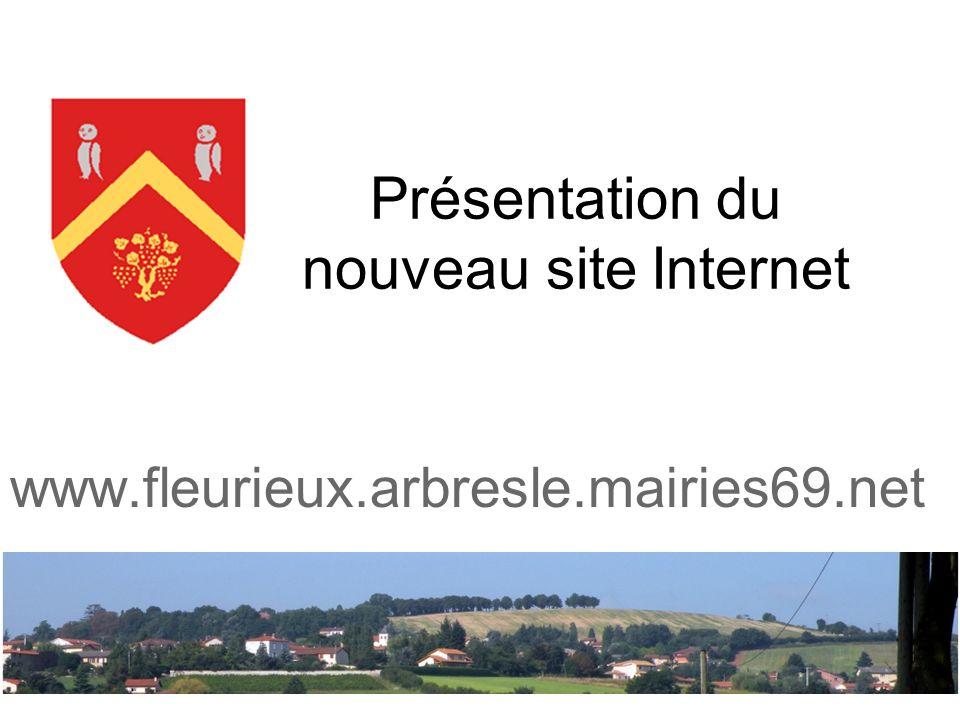 Présentation du nouveau site Internet www.fleurieux.arbresle.mairies69.net