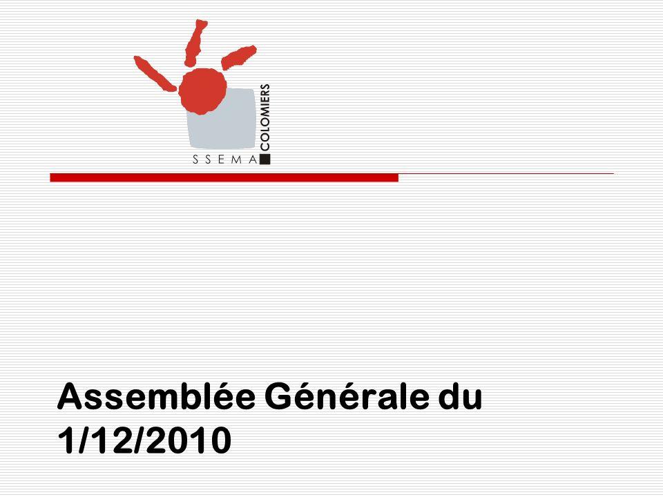 Assemblée Générale du 1/12/2010